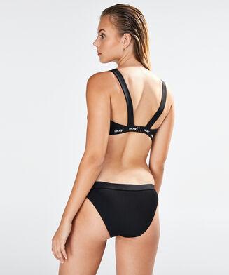 HKMX Bikini-Croptop Closure, Schwarz