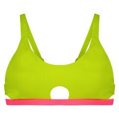 Bikini-Croptop New Wave, Gelb