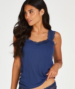 Hemdchen Ripp-Spitze, Blau