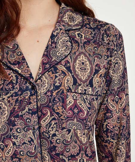 Pyjamatop Paisley, Blau
