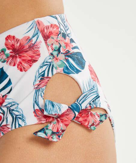 Rio Bikini-Slip Vintage mit hoher Passform, Weiß