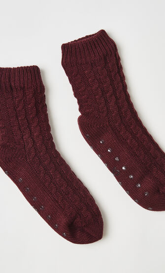 Haussocken Knit, Rot