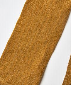 Lurex-Socken Rib, Gelb