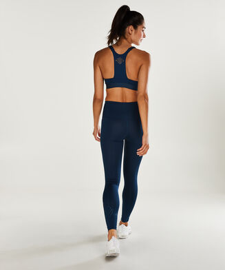 HKMX Sport-BH The Yoga Crop Level 2, Blau