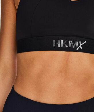 HKMX Sport-BH The Yoga Crop Level 2, Schwarz
