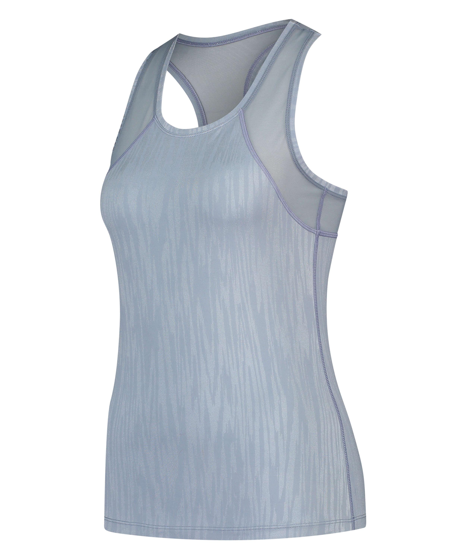 HKMX Sport slim fit tank top, Blau, main
