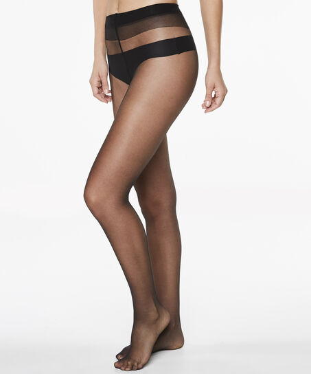 Panty 15 Denier Anti-ladder, Schwarz