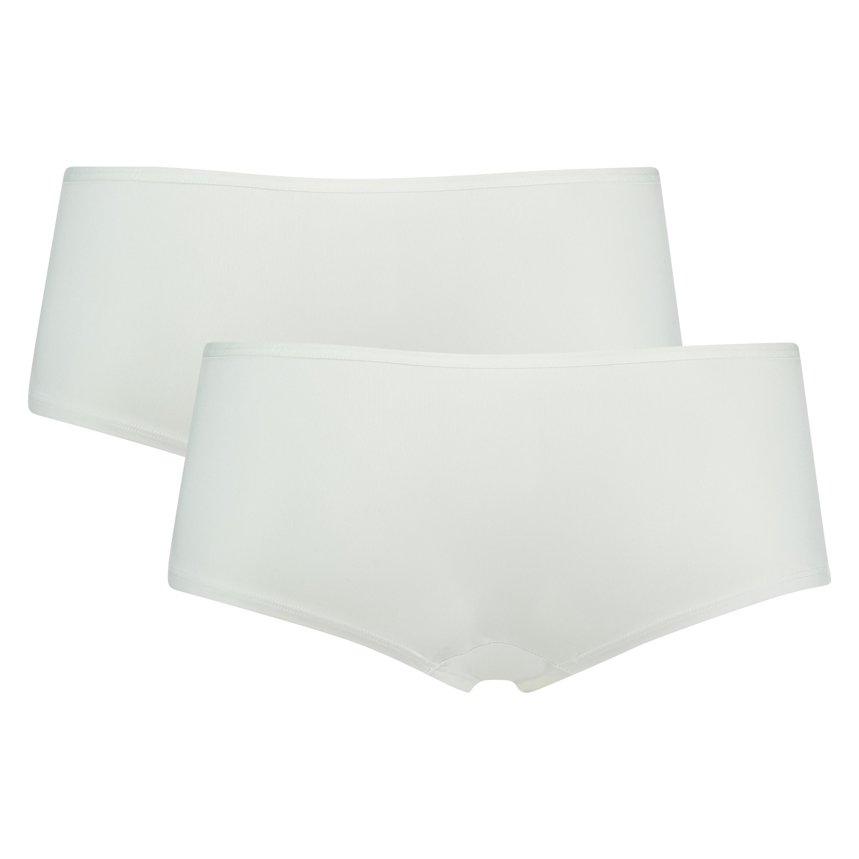 2-pack boxershorts Kim Cotton, Weiß, main