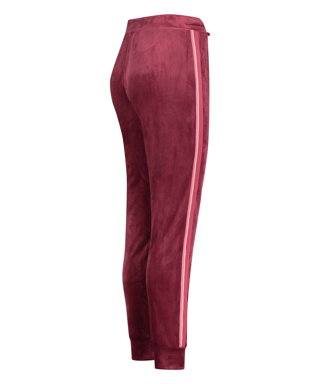Jogginghose Velours Stripe, Rot, main