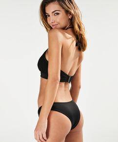Bikini-Croptop mit Bügel Borneo Mesh, Schwarz