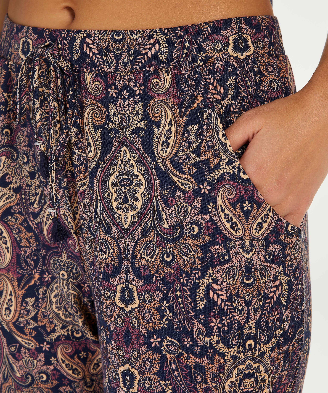 Pyjamahose aus Jersey, Blau, main