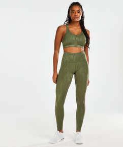 HKMX High Waisted Sportleggings Mojave, grün