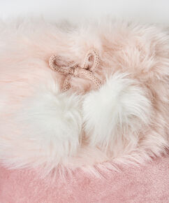 Pantoffeln Textured Fur, Rose