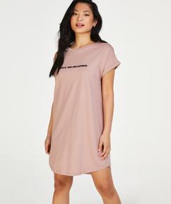 Nachthemd Rundhalsausschnitt, Rosa