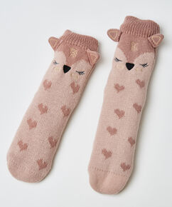 Slipper-Socken Fuchs, Rose