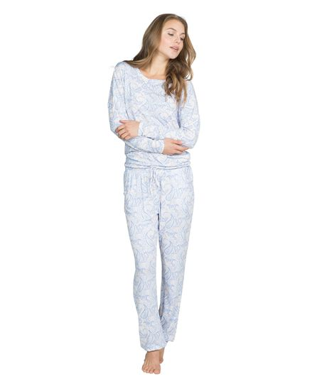 Pyjama pants Prisca, Blau