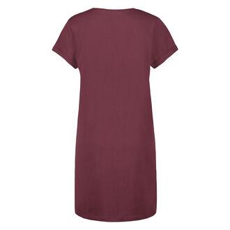 Nachthemd Rundhals, Rot