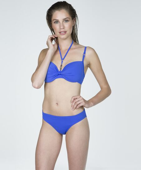 Vorgeformtes Bikini-Top Necklace Wave, Blau