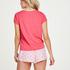 Kurzärmeliges Pyjama-Top Jersey Knot, Rot