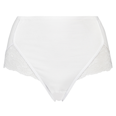 Superslip Lace Maxi baumwolle, Weiß