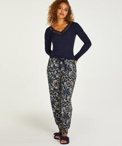 Petite Pyjamahose Jersey, Blau