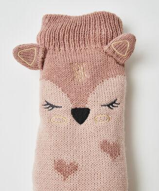 Slipper-Socken Fuchs, Rose