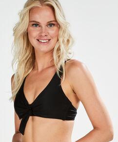 Nicht vorgeformtes Bügel-Bikinitop New Dreams, Schwarz