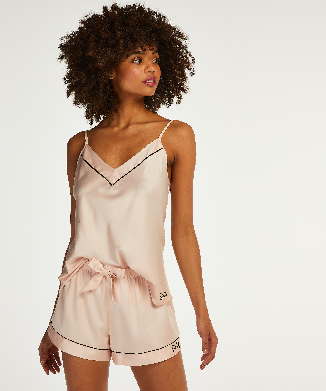 Pyjamashorts Satin Lace, Rosa, main