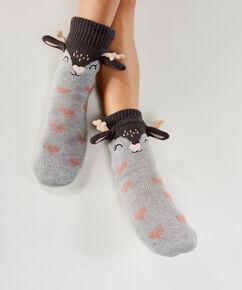 Slipper-Socken Hert, Grau