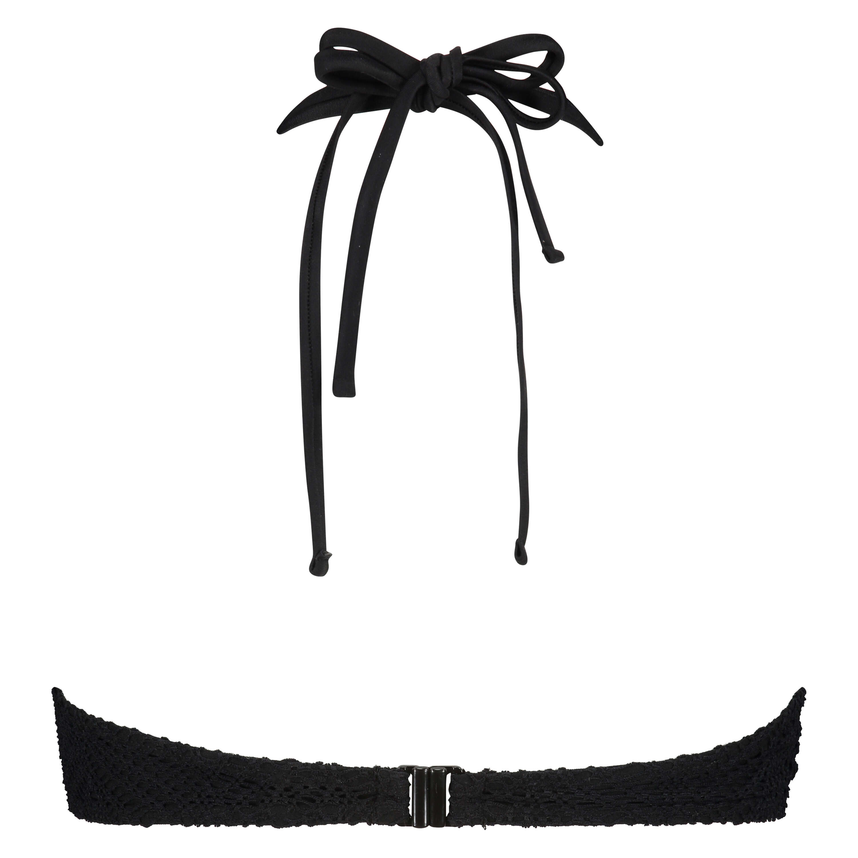 Crochet Bikini Top , Schwarz, main