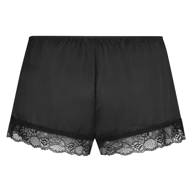 Pyjama-Shorts Satin, Schwarz, main