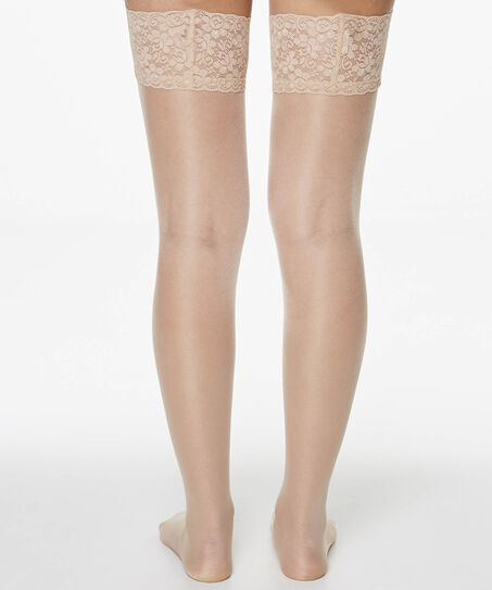 2 Paar 15 Denier Stay-ups lace, Teint