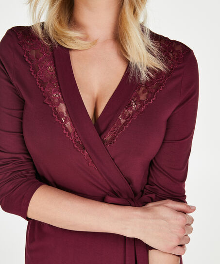 Bademantel Modal Lace, Rot