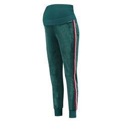 Umstands-Jogginghose Velours, grün