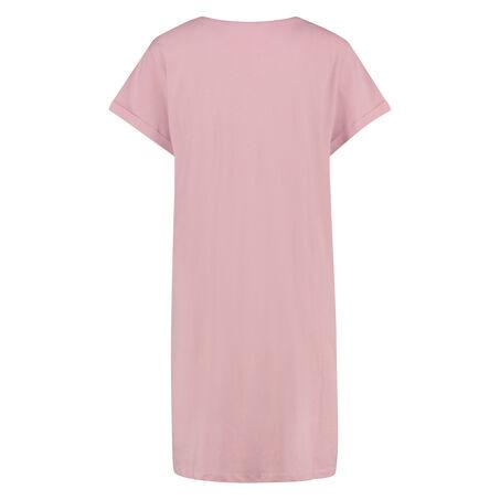 Nachthemd Rundhals, Rose