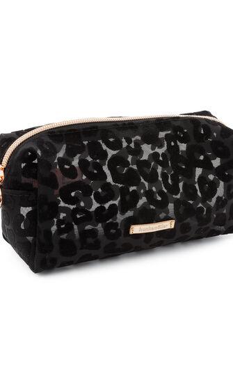 Kosmetiktaschen Leopard, Schwarz