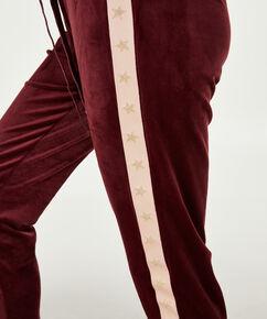 Jogginghose Velours Sterne, Rot