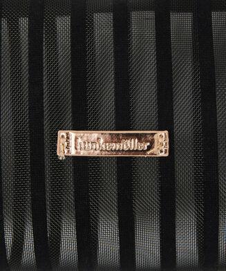 Kosmetiktaschen Stripe Mesh, Schwarz
