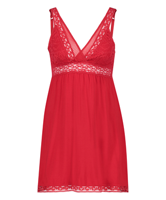 Slipdress Jersey Grafic Lace, Rot