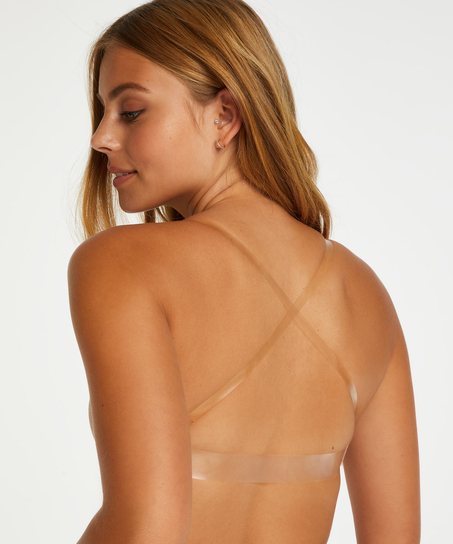 Vorgeformter Bügel BH, transparant back, Beige