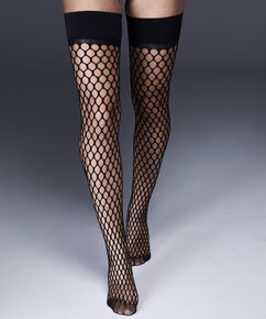 Stay-ups Fishnet Private Big Sexy, Schwarz