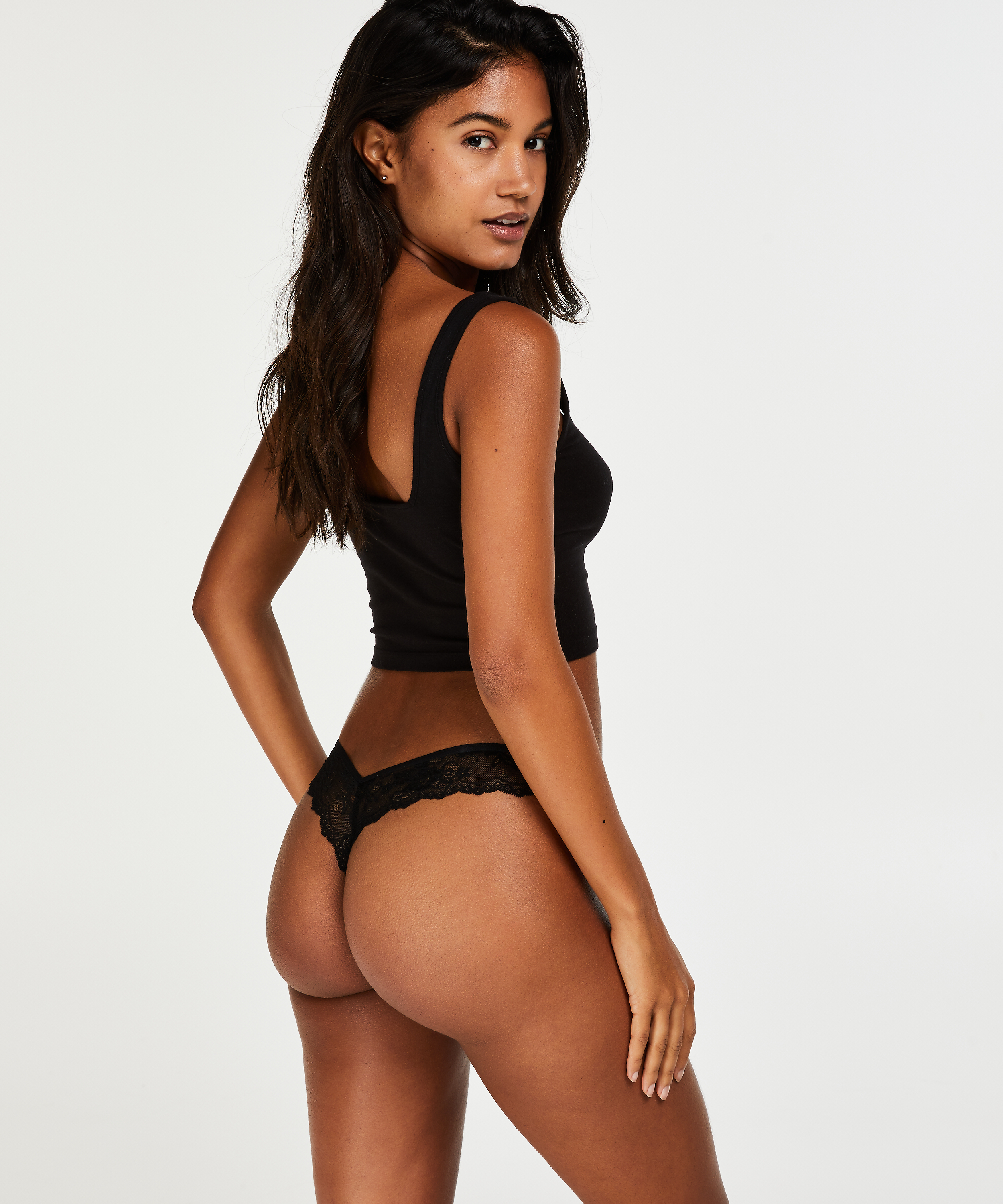 Invisible String Lace Back, Schwarz, main