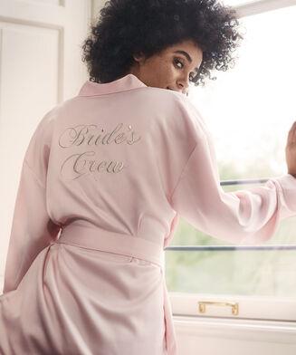 Kimono Satin Brides Crew, Rose