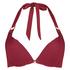 Vorgeformtes Bügel-Bikinioberteil Golden Rings, Rot