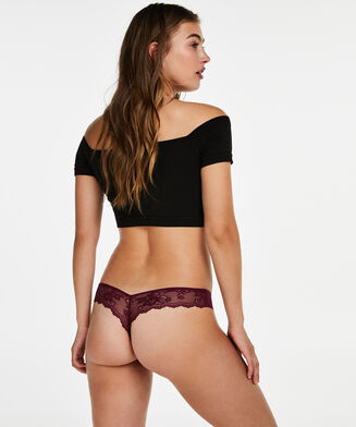 Invisible String Lace Back, Lila