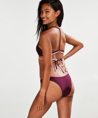 High-leg Cheeky-Bikinislip Times Two, Rose