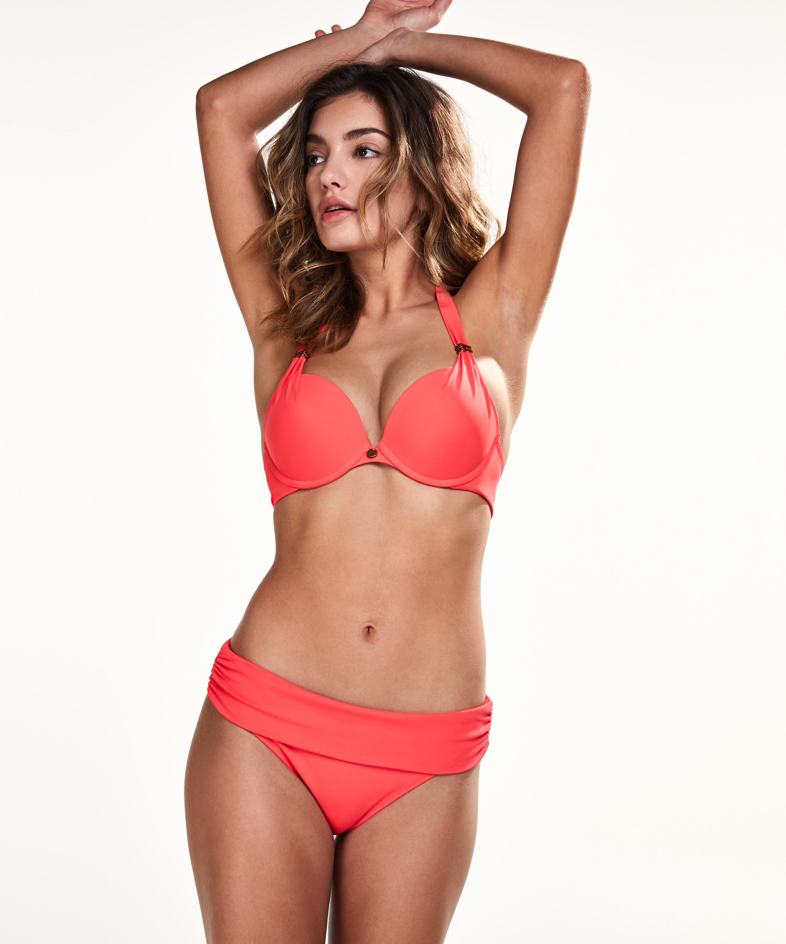Vorgeformtes Push-up-Bikinitop Sunset Dream, Rot, main