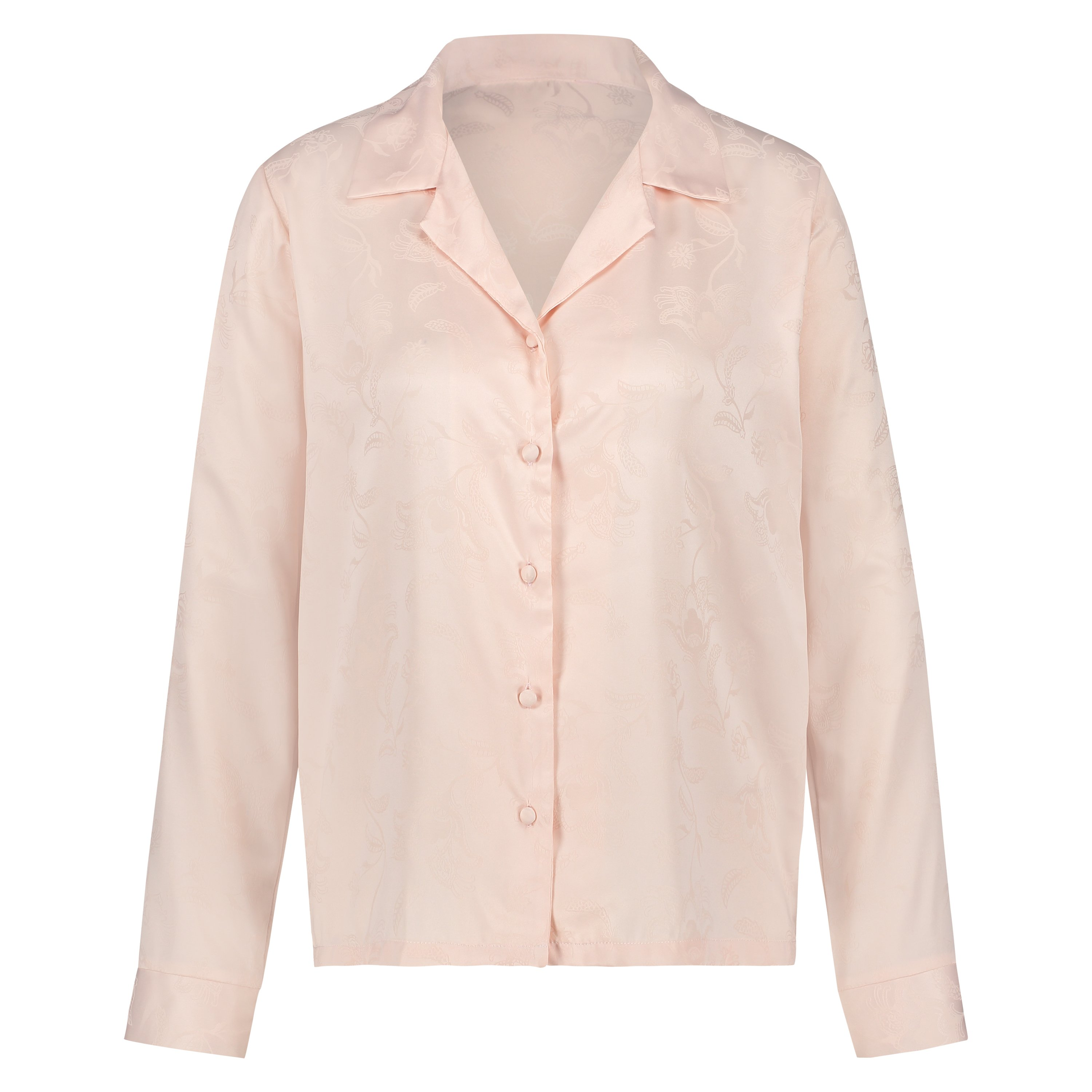 Satin-Pyjamatop, Rose, main