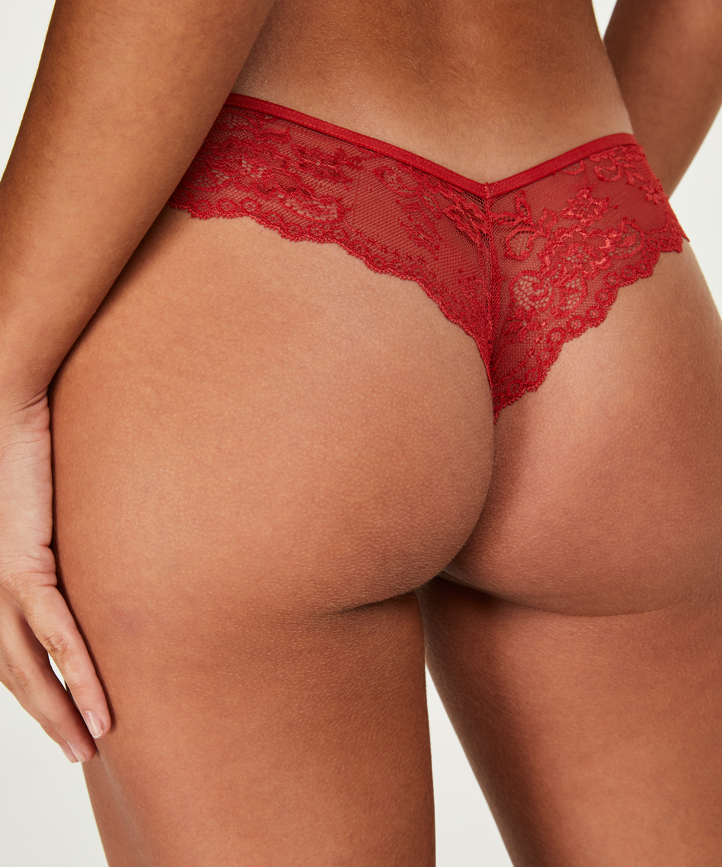 Invisible String Lace Back, Rot, main