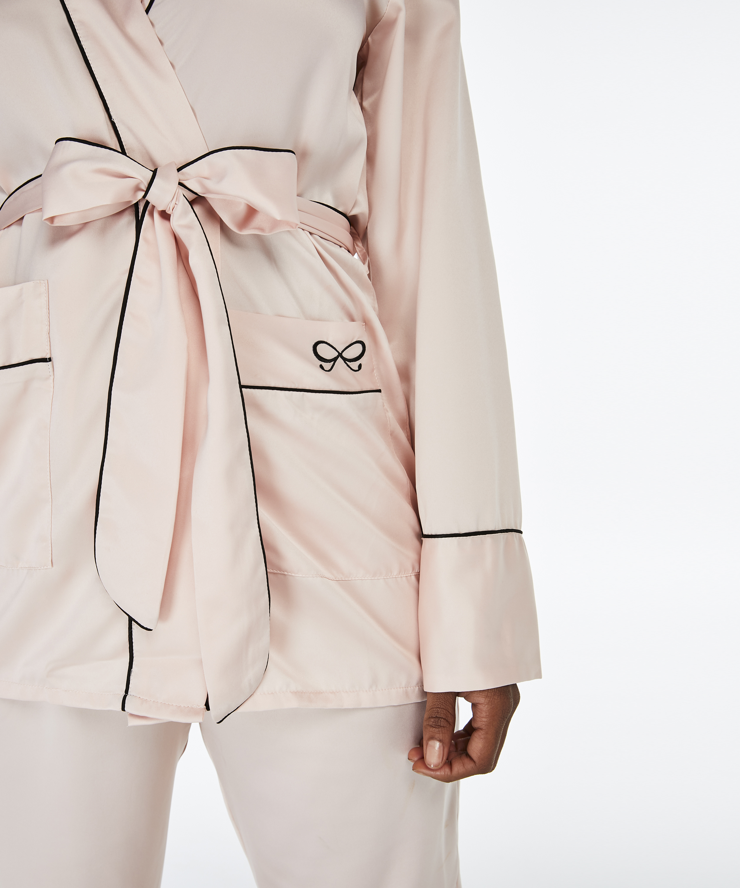 Pyjamaoberteil Satin, Rose, main
